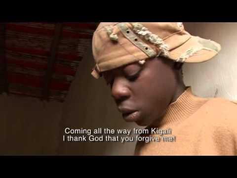 Film making street kids, Rwanda