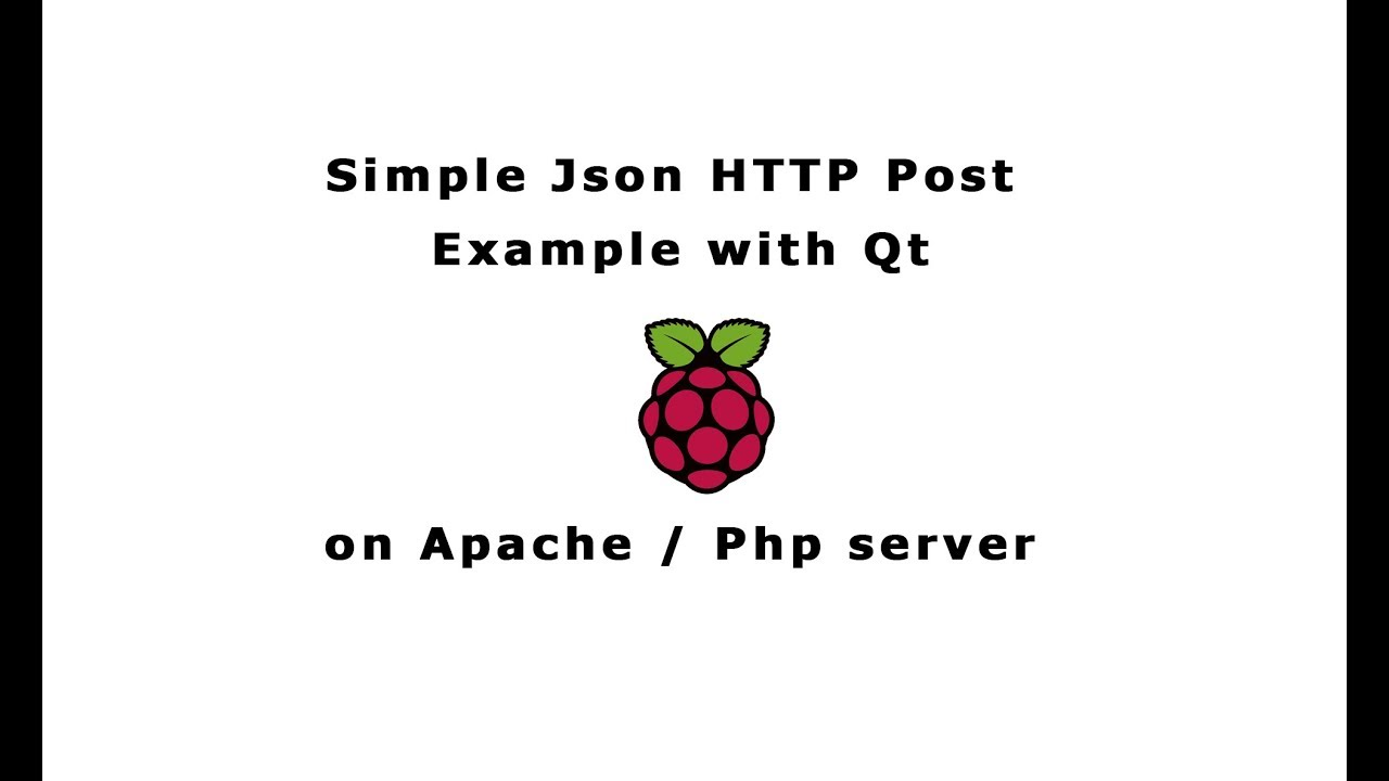 Simple Json Http post to apache php server with Qt Raspberry pi