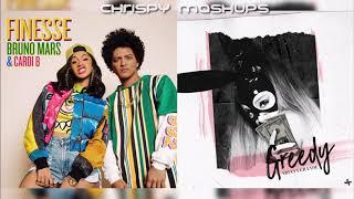 Bruno Mars, Ariana Grande & Cardi B - Finesse / Greedy (Mashup)