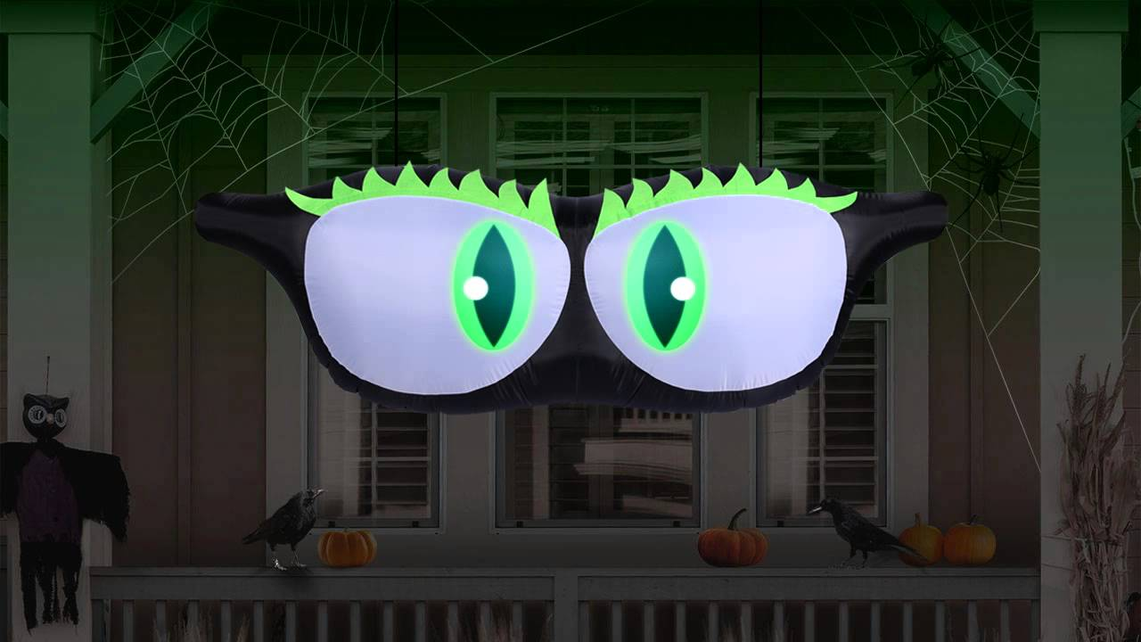 airflowz halloween projection inflatable moving monster eyes