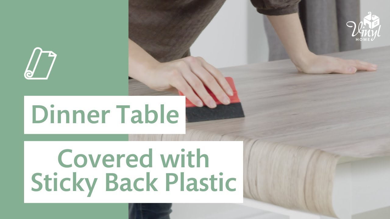 Dinner Table Covered With Sticky Back Plastic