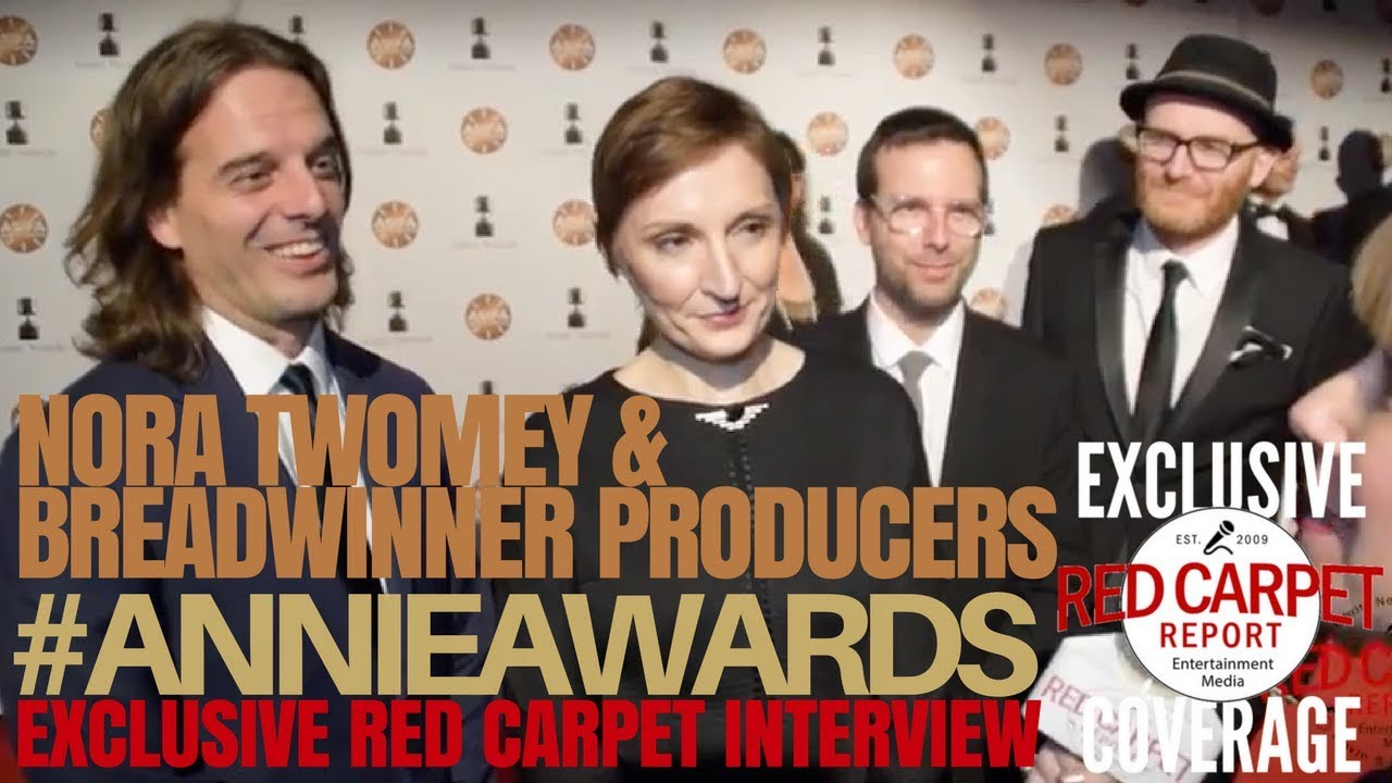 Nora Twomey, Anthony Leon & Andre Rosen of The Breadwinner interview at  45th Annual #ANNIEAwards