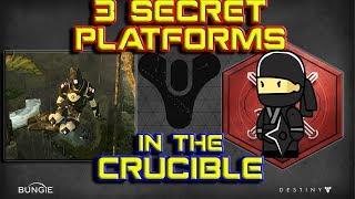 Destiny Glitches - 3 Secret Platforms in the Crucible (NEW)