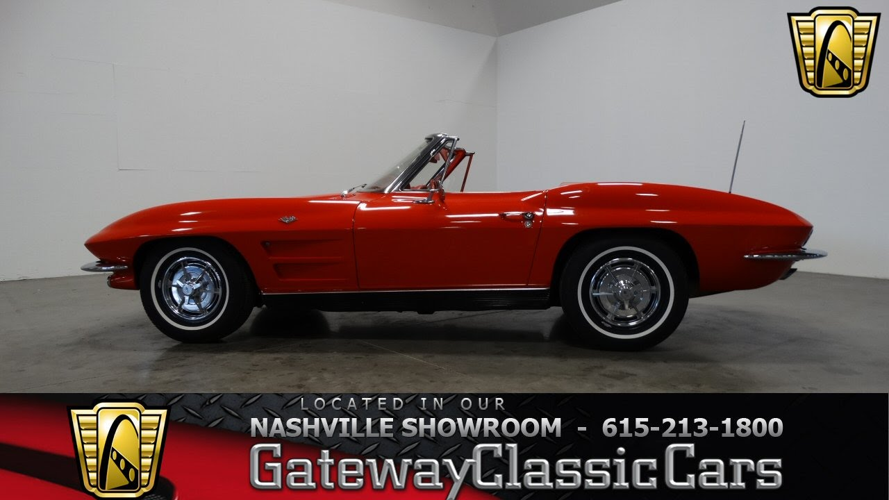 1963 Chevrolet Corvette Stingray Convertible,Gateway Classic  Cars-Nashville#314