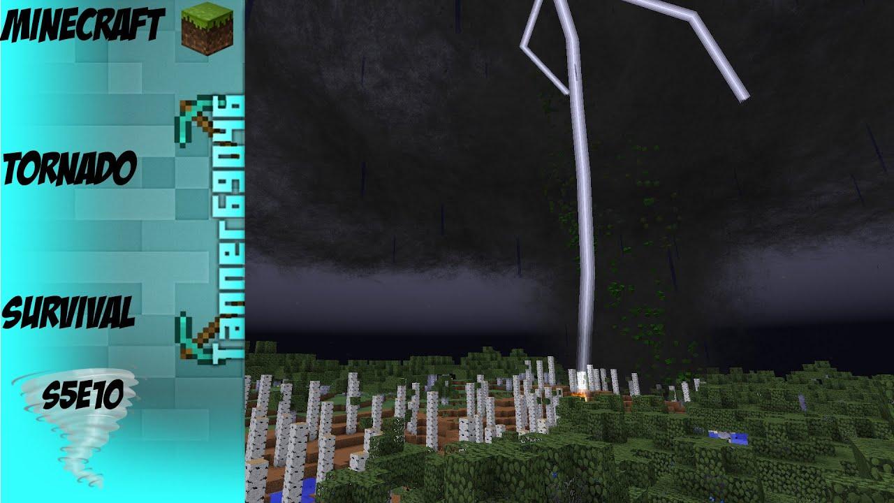 Minecraft Tornado Survival (Localized Weather Mod) S5E10 ...