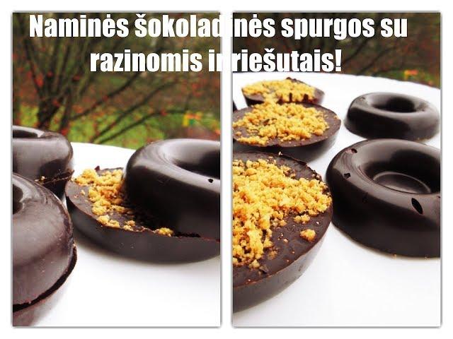 #beVirtuvės - šokoladinės spurgos su razinomis ir žemės riešutais / receptas /iCook /  Vegan Pipiras