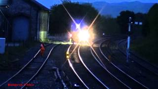 Night-Work at Kirkby Stephen. - Yellow Peril goes off wrong line.