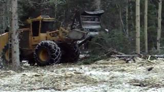 Tigercat M760 with FAE mulcher on Pikes Peak