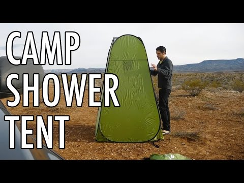 Testing The New Camp Shower Tent