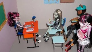 How To Make A Student Chair (school Desk) For Doll (monster High, Mlp, Eah, Barbie, Etc)