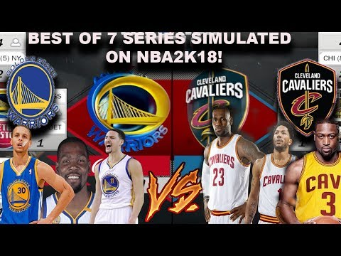 2018 WARRIORS VS CAVS BEST OF 7 SERIES Simulated on NBA2K18!