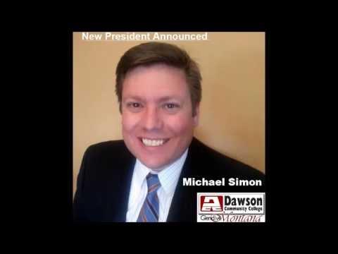 Michael Simon announced as new  Dawson Community College President