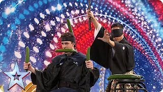 SAMURAI SWORDS AND CUCUMBERS?! | Britain's Got Talent