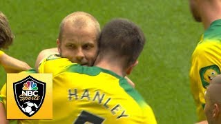 Teemu Pukki volleys home to give Norwich the lead v. Newcastle | Premier League | NBC Sports