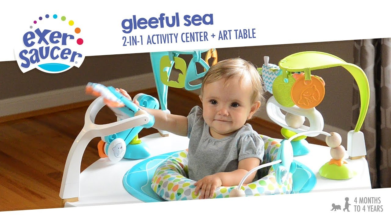 29adc19dfda9 ExerSaucer Gleeful Sea 2-in-1 Activity Center + Art Table