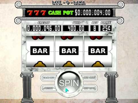 Simulator slot machine
