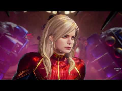 Captain Marvel vs Thanos - Avengers Video Game   Superhero FXL Gameplay