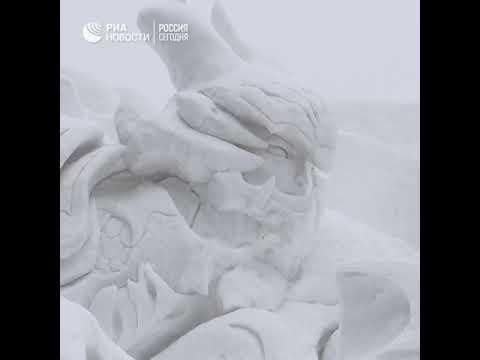 Фестиваль снега в Японии