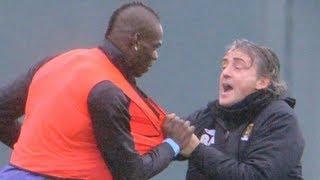 Mario Balotelli vs Roberto Mancini Fight!