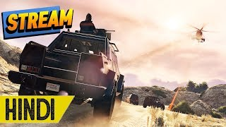 Police VS Cars VS Planes VS Us in GTA 5 ONLINE - HINDI/URDU