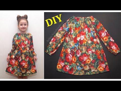 Сшить платье с длинным рукавом для девочки 5 лет своими руками