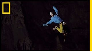 Watch This Daring Highwire Walk Through a Deep Underground Cave | National Geographic