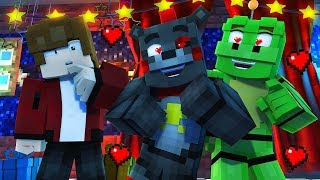 Minecraft FNAF 6 Pizzeria Simulator HIDE AND SEEK - LEFTY X HAPPY FROG! (Minecraft Roleplay)