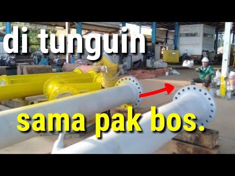 cara pengecatan/painting pipa besi,standar offshore.