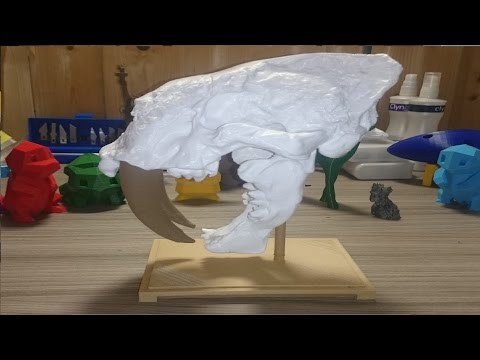 3D Printing a Sabre Toothed Cat skull on the Ultimaker 2!