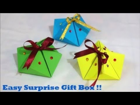 Valentine's Day Surprise Gift Box Tutorial ~ DIY Gift for Mother's/Father's Day,Birthday ~ Tutorial