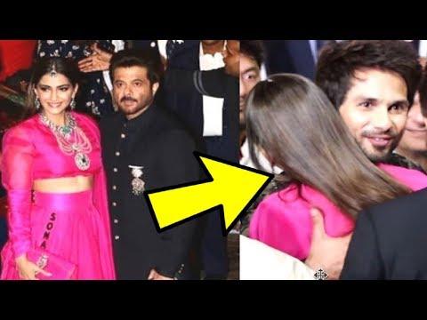 Sonam Kapoor HUGS Shahid Kapoor At Isha Ambani And Anand Piramal Wedding