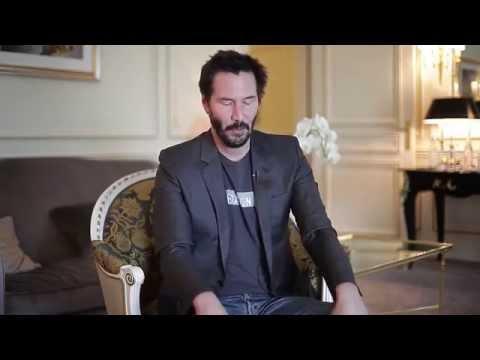 Keanu Reeves, post-it interview