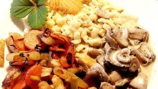 Vegetarische Küche - Gemüse Champignon Knöpfle - Zubereitet Von Papa:-)e