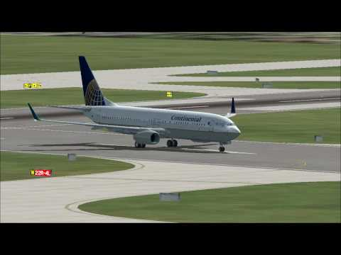 Flight Simulator X Newark to Montrose by Continental Airlines