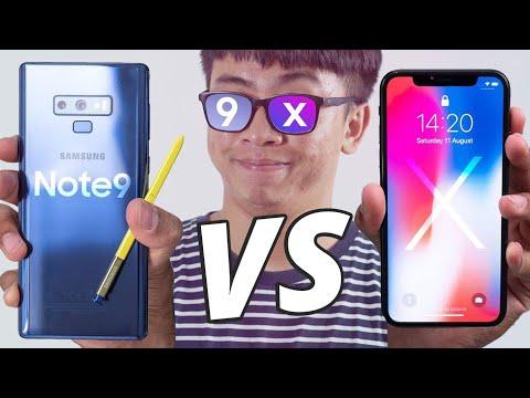 So Sánh Galaxy Note 9 Vs IPhone X : Đối đầu Toàn Diện !