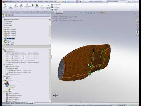 Example Of Weld Edges Analysis In Simulation SolidWorks (FEA.co.il)