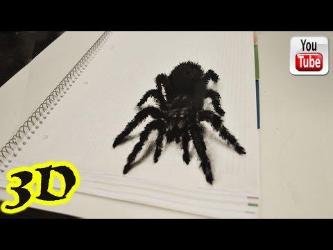 Как рисовать паука. 3D иллюзия.