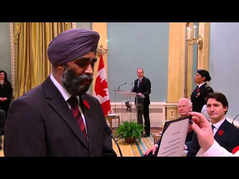 Harjit Singh Sajjan named Canada's Minister of National Defence in Justin Trudeau's government