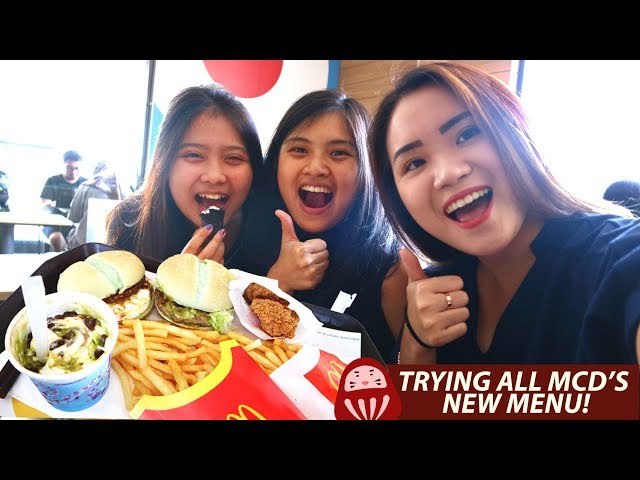 REVIEW ALL MCDONALD'S NEW MENU!! #IniRasaKita