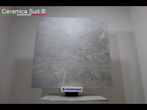 Pavimento moderno quadrato Provenzale da esterno effetto pietra fossile rettificato 90 x 90 cm.