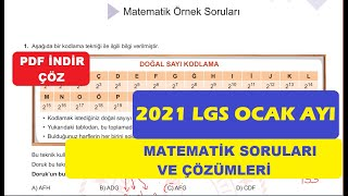 2021 LGS Ocak Ayı Örnek Matematik Soruları Ve Çözümleri