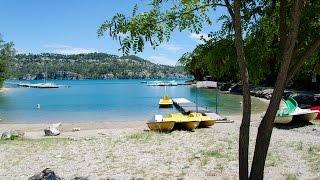 Verdon insolite : plage de Saint Julien au bord du lac d'Esparron