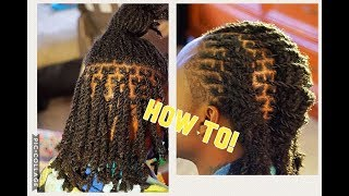 HOW-TO: RETWIST & STYLE 3-in-1 (2 stranded twists)