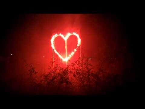 Coeur feu d'artifice
