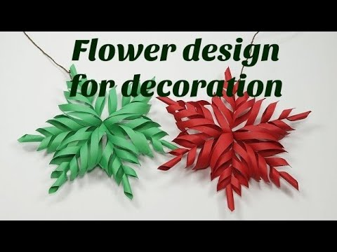 How to make 3D star for Christmas decoration    Flower design for Christmas decoration   