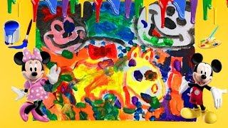 learn colors painting mickey mouse and minnie mouse for kids and toddler