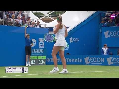 2017 Aegon International Third Round | Johanna Konta vs Jelena Ostapenko | WTA Highlights