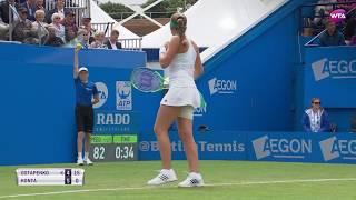2017 Aegon International Third Round   Johanna Konta vs Jelena Ostapenko   WTA Highlights