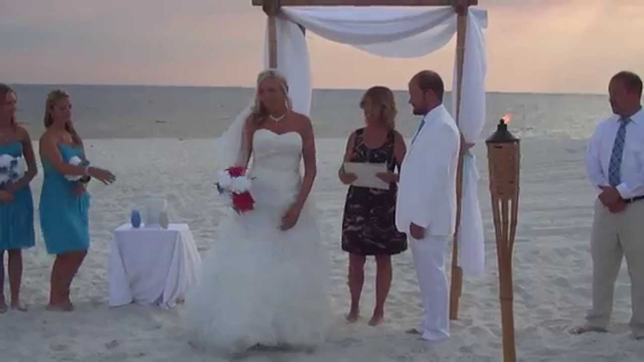 Very Funny Beach Wedding But Perfect For Us Fast Forward To 1100
