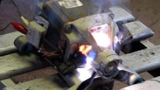 Waschmaschine 230Volt Motor an 550 Volt Turboschleudergang Extremmotortest
